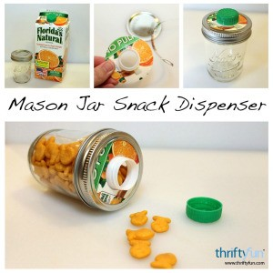 mason jar snack dispenser