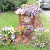 planter boxes and flower pots