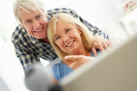 Couple Using VoIP