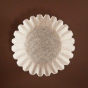 Pleated paper coffee filter
