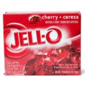A box of cherry Jell-O
