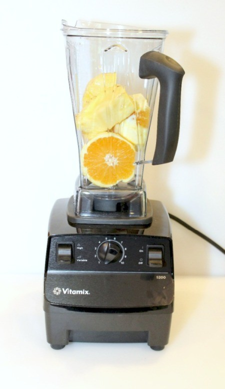 add pineapple to vitamix