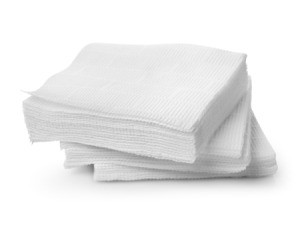 Stack of napkins.