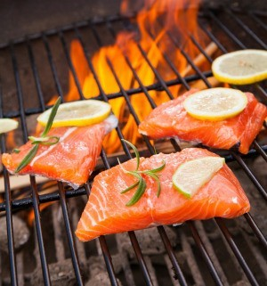 Grilling Salmon