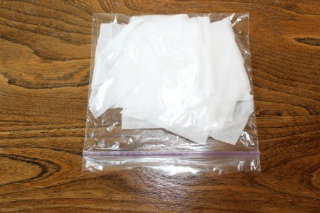 wipes in baggie
