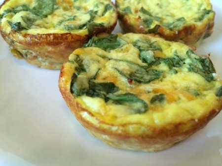 Muffin Tin Spinach Frittatas 1