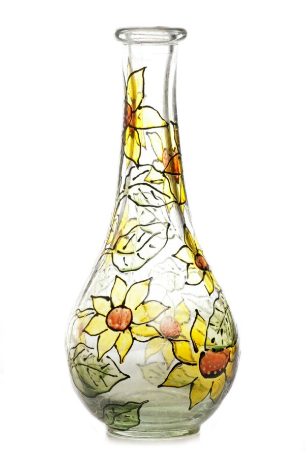 Painting Glass Jars and Vases