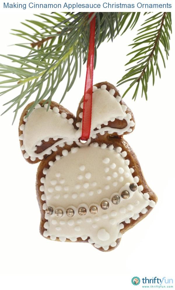Making Cinnamon Applesauce Christmas Ornaments | ThriftyFun