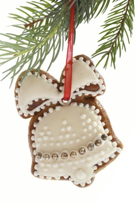 bell shaped cookie Christmas ornament