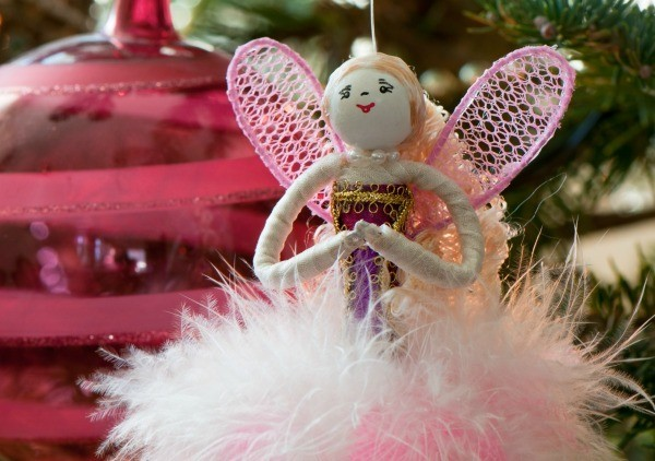 feather angel ornament