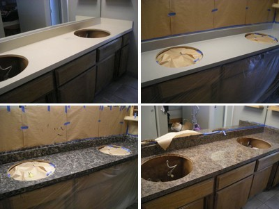 Painting a Faux Granite Counter Top