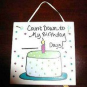 birthday countdown tile