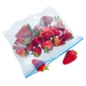 Zip Top Bag With Strawberries