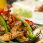 fajita chicken and vegetables