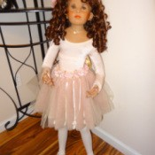 ballerina doll in pink dress