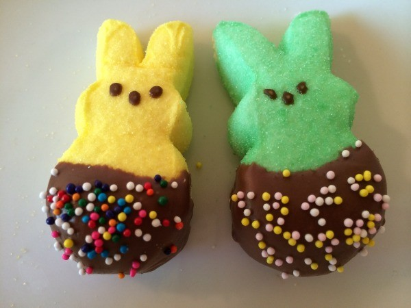 dipped bunnies with sprinkles