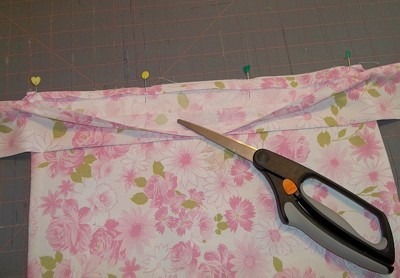 sewing on waistband and ties