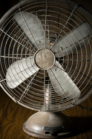 Dusty Electric Fan