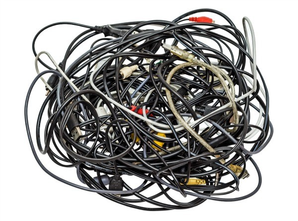 Electronics Cables And Wires : Recycling electronic cords and cables thriftyfun