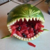 Summer Shark Fruit Bowl