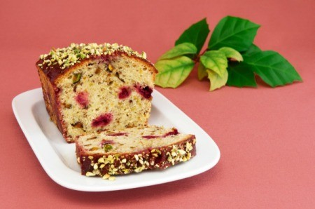 loaf of cherry nut bread