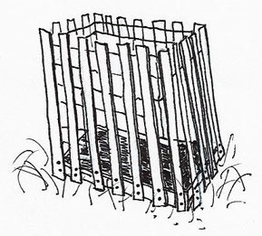 Snow Fence Compost Bin