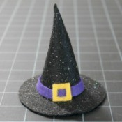 Mini Felt Witch Hat