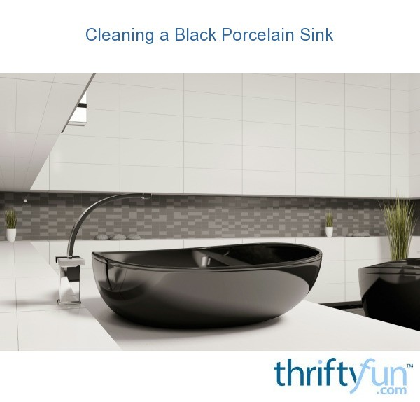 how to clean a black porcelain sink