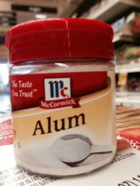 small bottle of alum