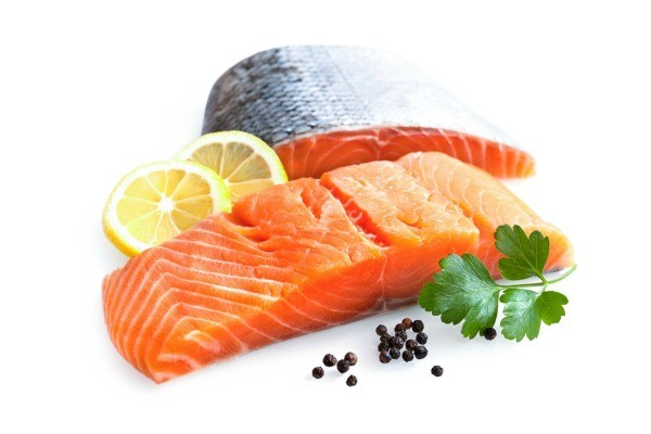 fresh salmon with lemon and herbs