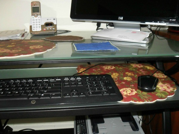 Placemat as Larger Size Mouse Pad