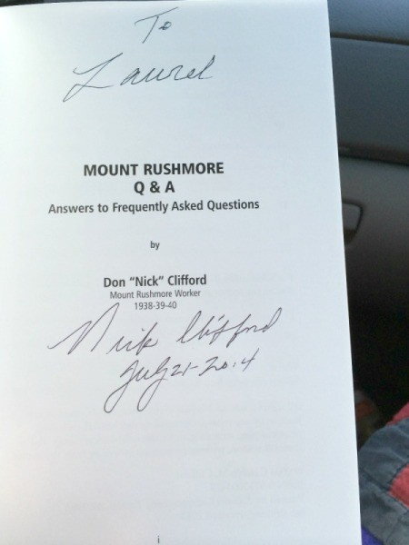 autographed book