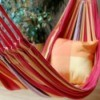 brightly colored hammock