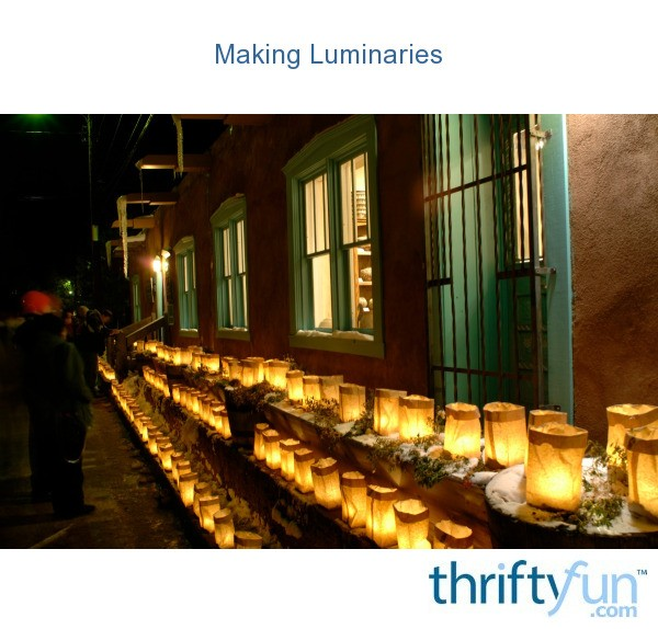 making luminaries thriftyfun