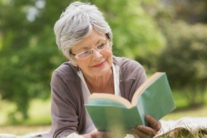 Senior Reading a Book