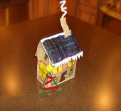Making a Paper Bag Gingerbread House