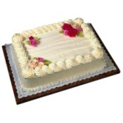 sheet cake with flower decorations