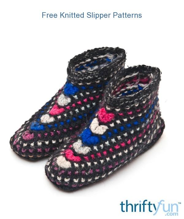 Free Knitted Slipper Patterns ThriftyFun