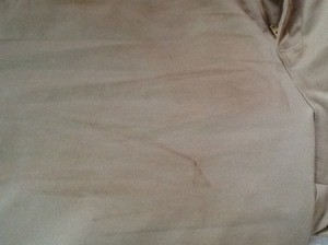 stain on front of pants