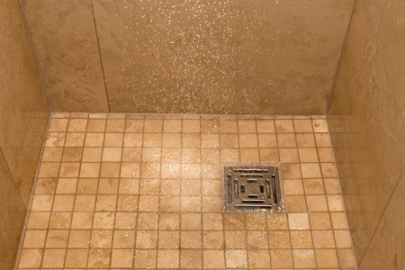 walkin shower drain