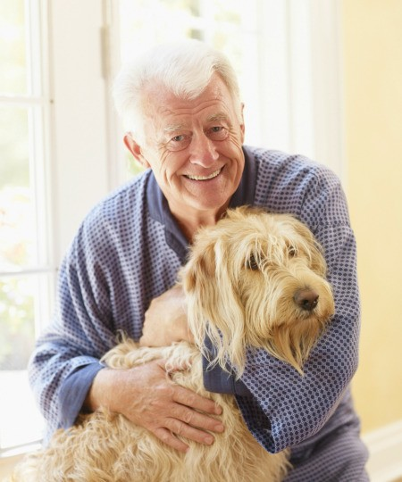 Dog with Elderly Man