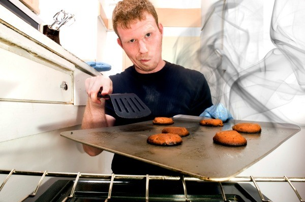 Man with Burnt Cookies