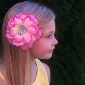 Homemade Flower Barrette - finisher flower.