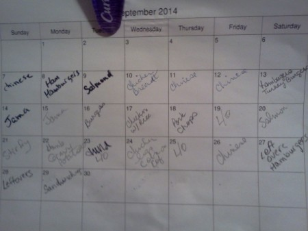 Calendar for Leftovers