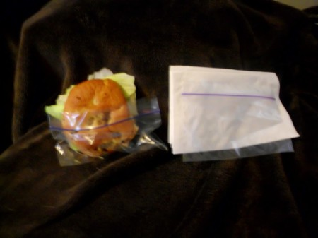 Snack Plastic Bag as Sandwich Pocket