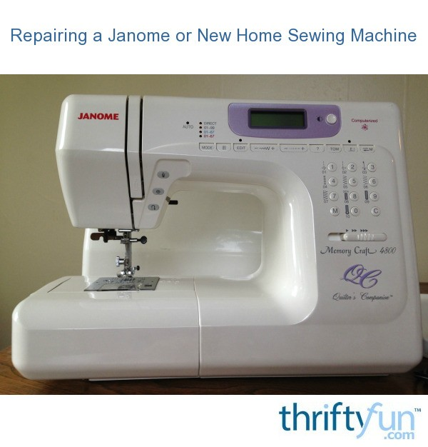 Repairing A Janome Or New Home Sewing Machine