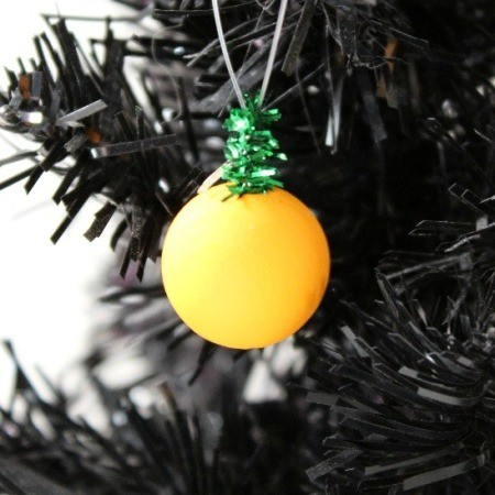 Wooden Bead Pumpkin Ornament