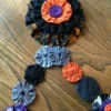 sew garland to triple yo yos
