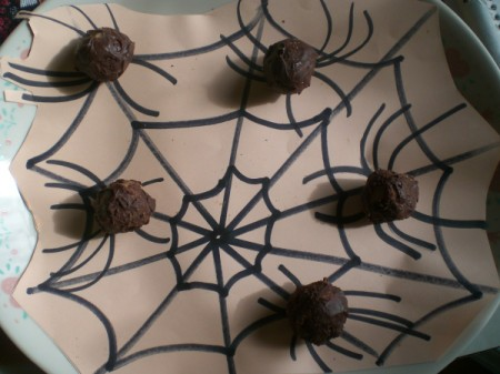 Spider Cookie Dough Truffles