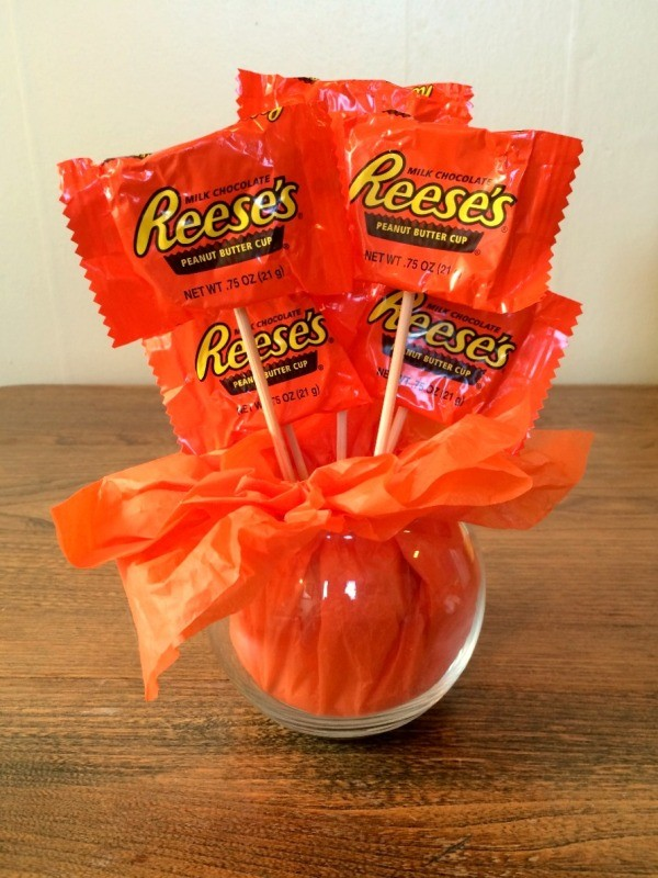 Making A Mini Pumpkin Candy Bouquet Thriftyfun